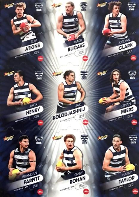 2020 AFL Footy Stars Geelong Cats Jigsaw Team Set