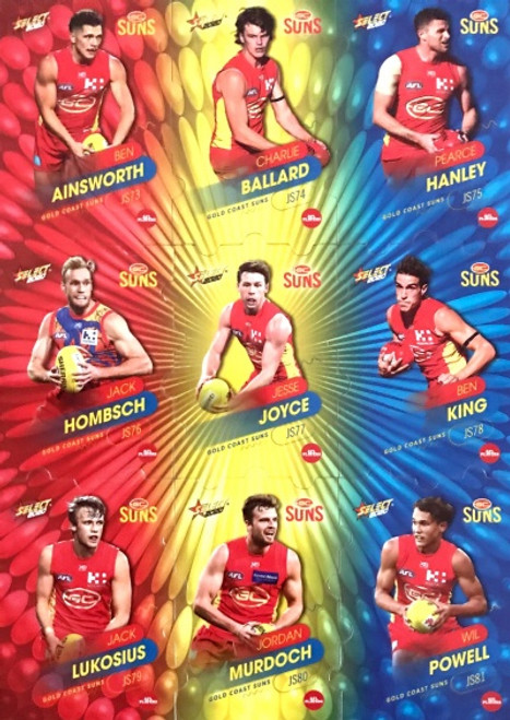 2020 AFL Footy Stars Gold Coast Suns Jigsaw Team Set