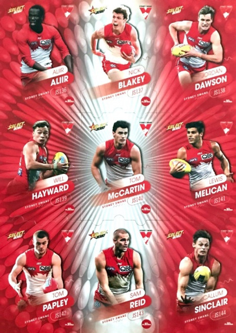 2020 AFL Footy Stars Sydney Swans Jigsaw Team Set