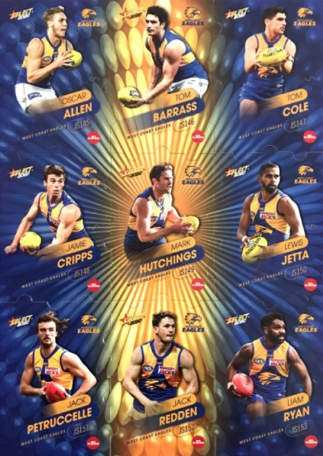 2020 AFL Footy Stars West Coast Eagles Jigsaw Team Set