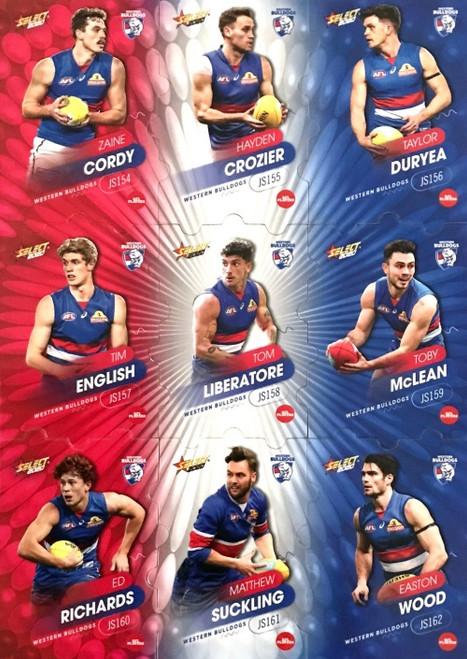 2020 AFL Footy Stars Western Bulldogs Jigsaw Team Set
