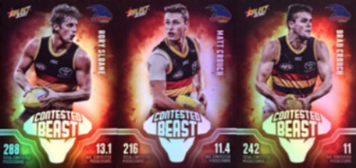 2020 AFL Footy Stars Adelaide Crows Contested Beast Cards