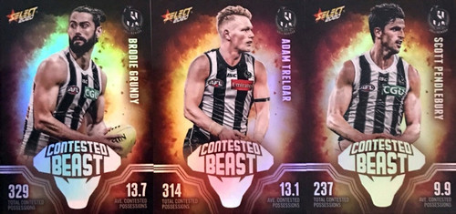 2020 AFL Footy Stars Collingwood Magpies Contested Beast Cards
