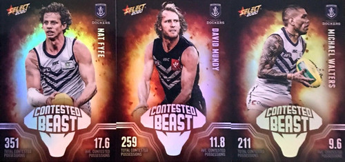 2020 AFL Footy Stars Fremantle Dockers Contested Beast Cards