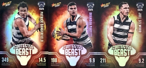 2020 AFL Footy Stars Geelong Cats Contested Beast Cards
