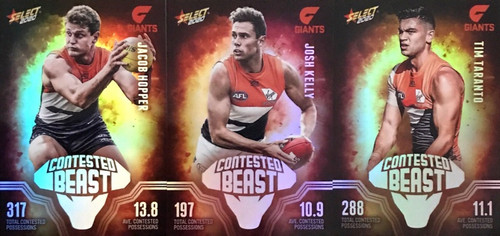 2020 AFL Footy Stars Greater Western Sydney Giants Contested Beast Cards