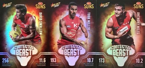 2020 AFL Footy Stars Gold Coast Suns Contested Beast Cards