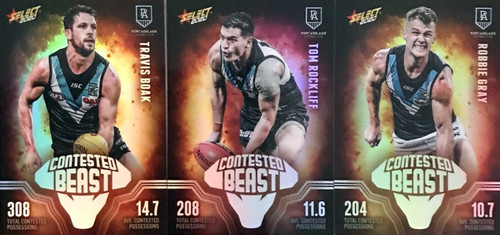 2020 AFL Footy Stars Port Adelaide Power Contested Beast Cards