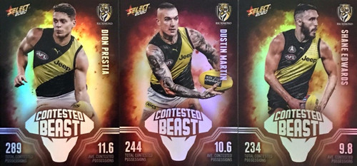 2020 AFL Footy Stars Richmond Tigers Contested Beast Cards