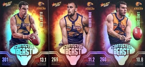 2020 AFL Footy Stars West Coast Eagles Contested Beast Cards