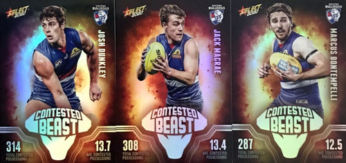 2020 AFL Footy Stars Western Bulldogs Contested Beast Cards
