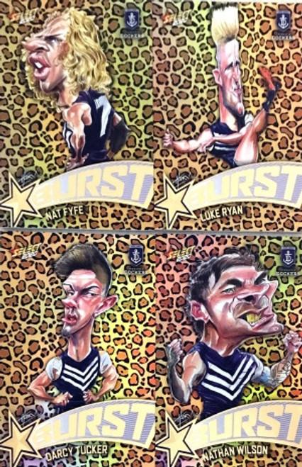 2020 AFL Footy Stars Fremantle Dockers Leopard Starburst Set
