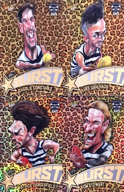 2020 AFL Footy Stars Geelong Cats Leopard Starburst Set