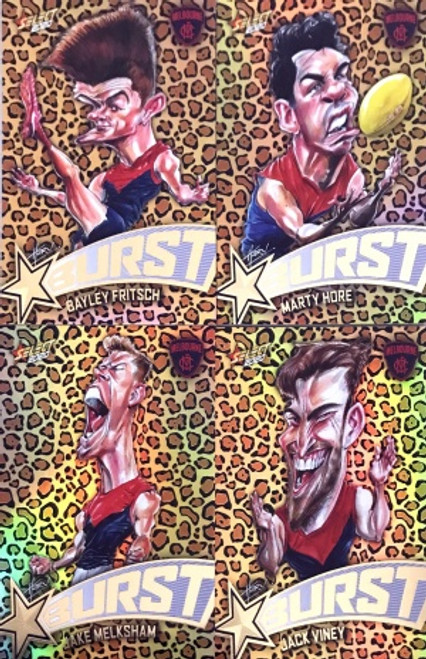 2020 AFL Footy Stars Melbourne Demons Leopard Starburst Set