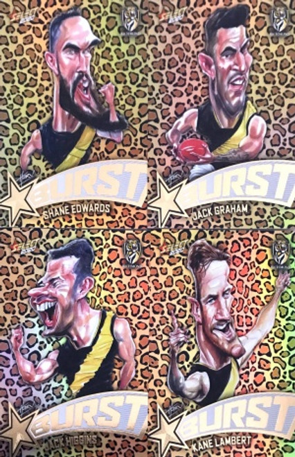 2020 AFL Footy Stars Richmond Tigers Leopard Starburst Set