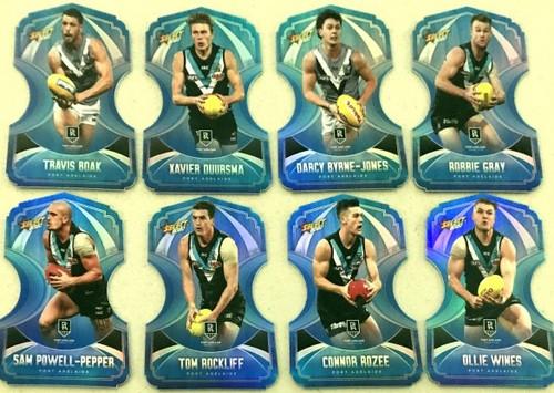 2020 AFL Footy Stars Port Adelaide Power Ice Blue Die-Cut Team Set