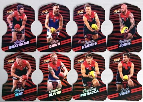 2020 AFL Footy Stars Prestige Melbourne Demons Zebra Die-Cut Team Set