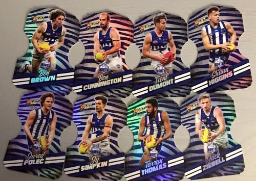 2020 AFL Footy Stars Prestige North Melbourne Kangaroos Zebra Die-Cut Team Set