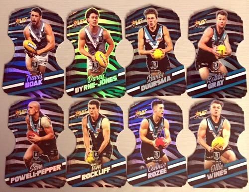 2020 AFL Footy Stars Prestige Port Adelaide Power Zebra Die-Cut Team Set