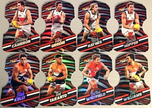 2020 AFL Footy Stars Prestige Greater Western Sydney Giants Zebra Die-Cut Team Set