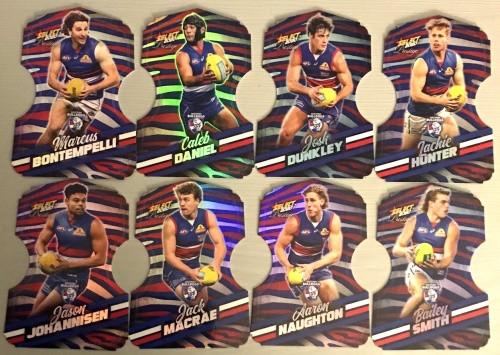 2020 AFL Footy Stars Prestige Brisbane Lions Zebra Die-Cut Team Set
