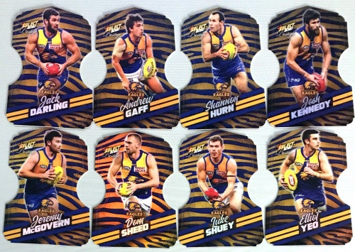 2020 AFL Footy Stars Prestige West Coast Eagles Zebra Die-Cut Team Set