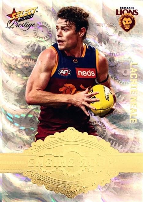 2020 AFL Footy Stars Prestige Brisbane Lions LACHIE NEALE Engine Room Card