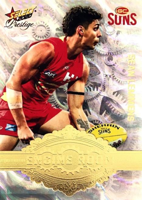 2020 AFL Footy Stars Prestige Gold Coast Suns Engine Room Card SEAN LEMMENS