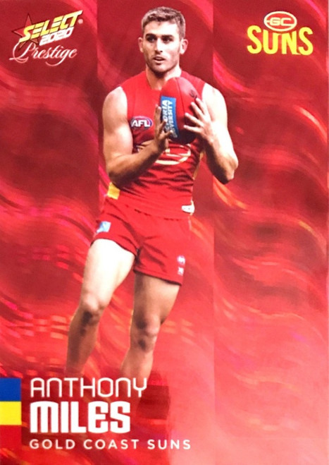 2020 AFL Footy Stars Prestige Gold Coast Suns Red Parallel Card ANTHONY MILES