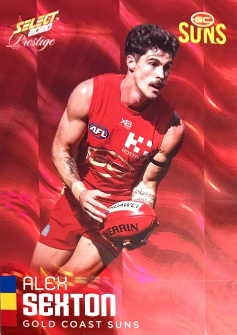2020 AFL Footy Stars Prestige Gold Coast Suns Parallel Red Card ALEX SEXTON