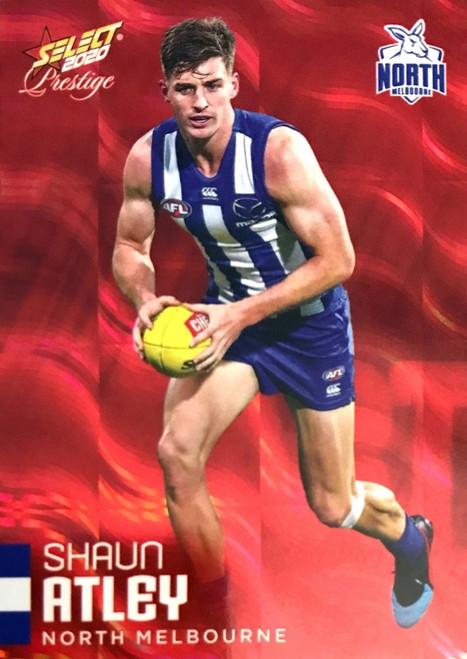 2020 AFL Footy Stars Prestige North Melbourne Kangaroos Red Parallel Card SHAUN ATLEY