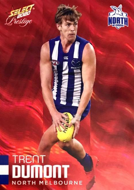 2020 AFL Footy Stars Prestige North Melbourne Kangaroos Red Parallel Card TRENT DUMONT