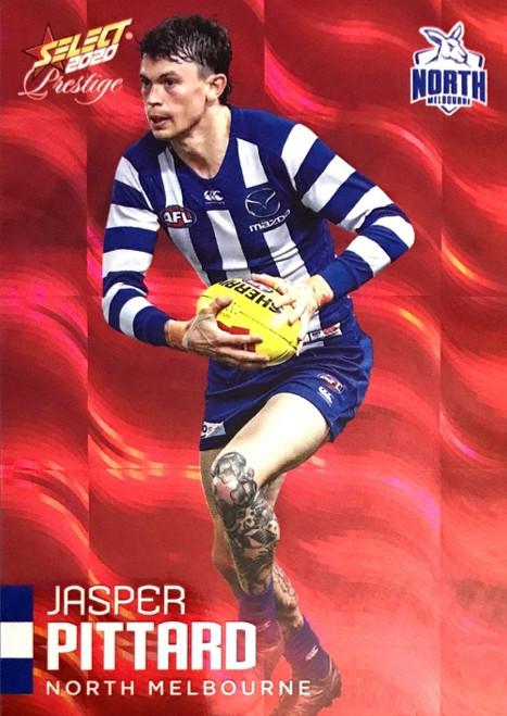 2020 AFL Footy Stars Prestige North Melbourne Kangaroos Red Parallel card JASPER PITTARD