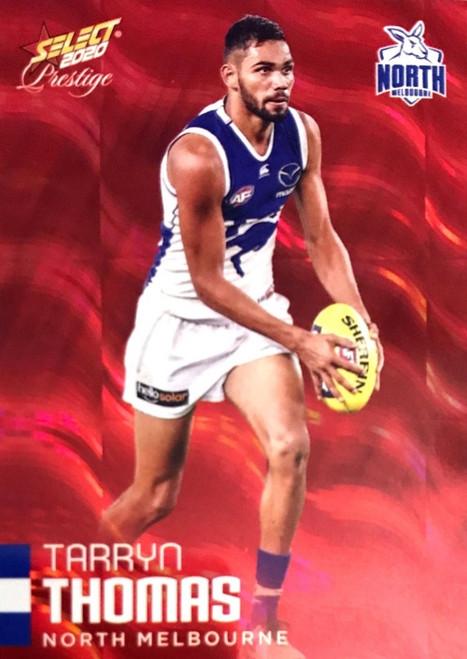 2020 AFL Footy Stars Prestige North Melbourne Kangaroos Red Parallel Card TARRYN THOMAS