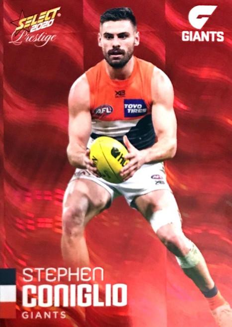 2020 AFL Footy Stars Prestige Greater Western Sydney Giants Red Parallel Card STEPHEN CONIGLIO