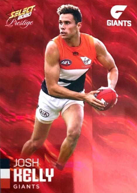 2020 AFL Footy Stars Prestige Greater Western Sydney Giants Red Parallel Card JOSH KELLY