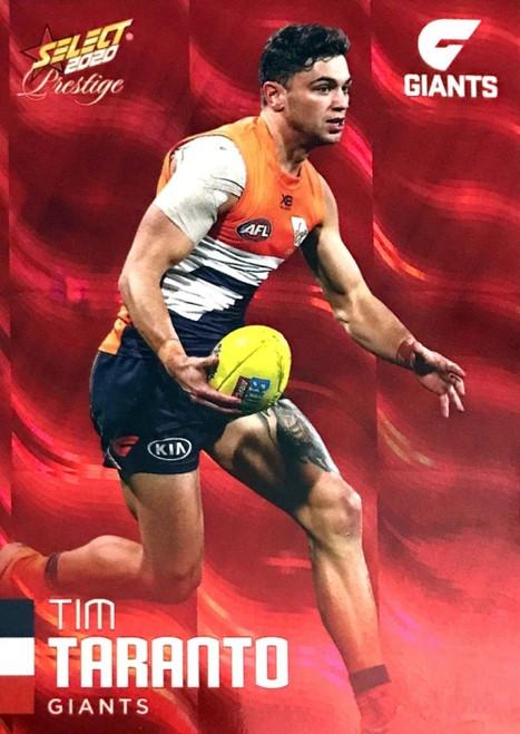 2020 AFL Footy Stars Prestige Greater Western Sydney Giants Red Parallel Card TIM TARANTO