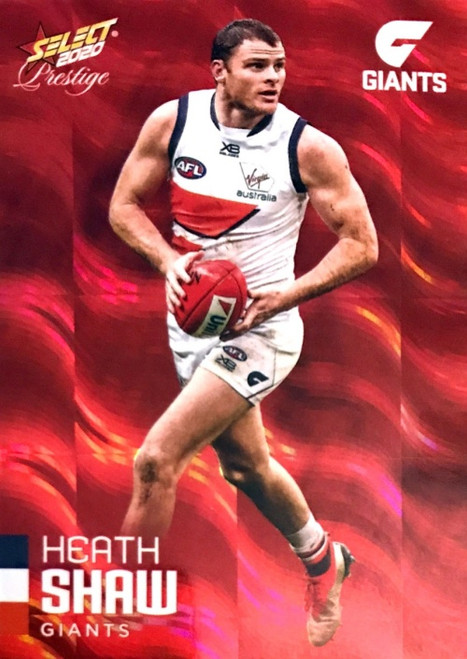 2020 AFL Footy Stars Prestige Greater Western Sydney Giants Red Parallel Card HEATH SHAW