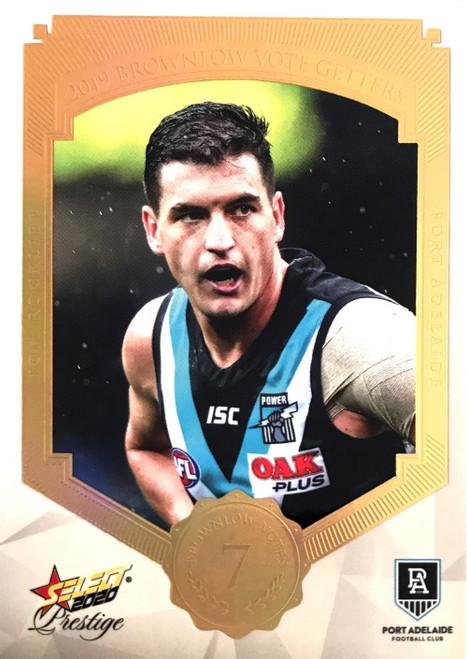2020 AFL Footy Stars Prestige Brownlow Vote Getters Port Adelaide Power TOM ROCKCLIFF  Card