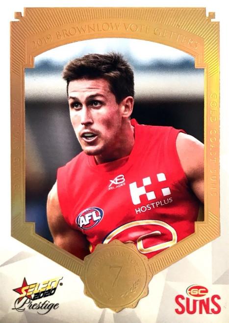 2020 AFL Footy Stars Prestige Brownlow Vote Getters Gold Coast Suns DAVID SWALLOW Card