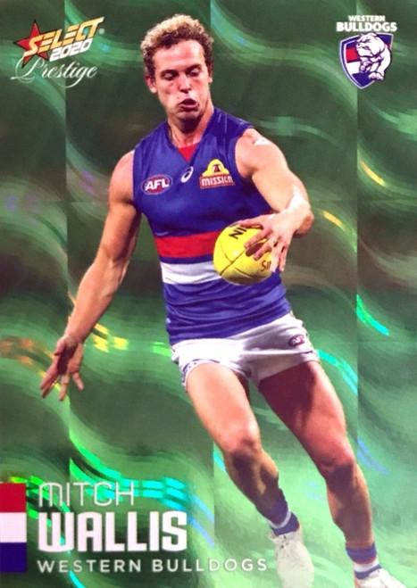 2020 AFL Footy Stars Prestige Green Parallel Card Western Bulldogs MITCH WALLIS Card