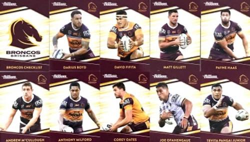 2020 NRL Traders Brisbane Broncos Base Team Set