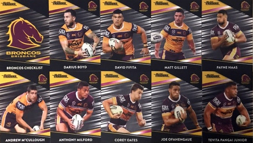 2020 NRL Traders Brisbane Broncos Parallel Team Set