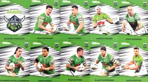 2020 NRL Traders Canberra Raiders Base Team Set