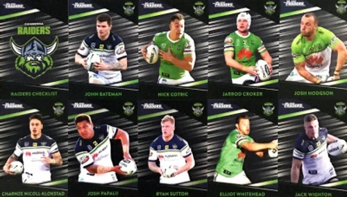 2020 NRL Traders Canberra Raiders Parallel Team Set