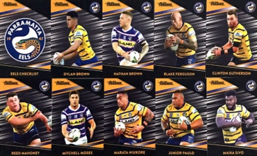 2020 NRL Traders PARRAMATTA EELS Parallel Team Set