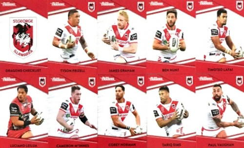 2020 NRL Traders SAINT GEORGE DRAGONS Base Team Set