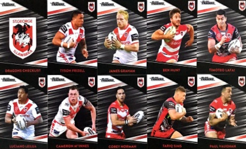 2020 NRL Traders SAINT GEORGE DRAGONS Parallel Team Set
