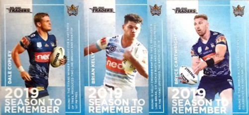 2020 NRL Traders GOLD COAST TITANS 2019 Season To Remember Cards
