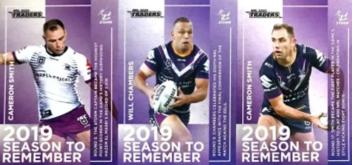2020 NRL Traders MELBOURNE STORM 2019 Season To Remember Cards